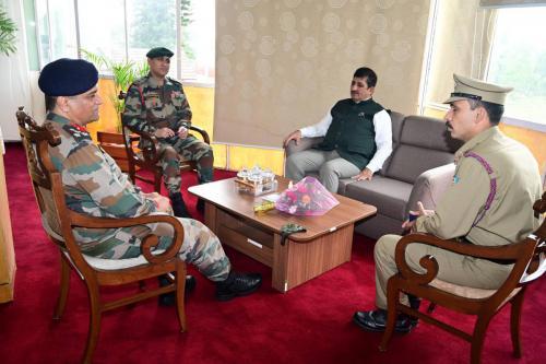 Visit of Group Commander NCC